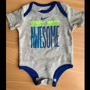 """Nike One Pieces - Nike """"Tiny but Awesome"""" Onesie"""